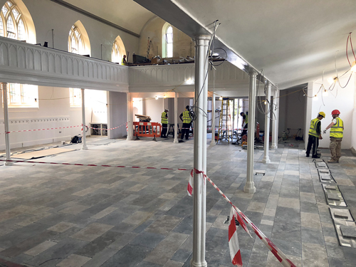 Church's £1m revamp nears completion