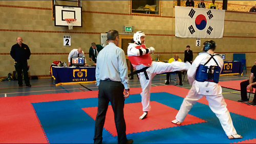 Mark James in action at the 11th Annual Chung Do Kwan British Tae Kwon Do Championship