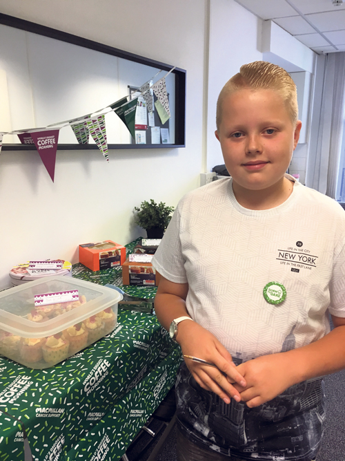 Jake, 11,  aims to spread some cheer