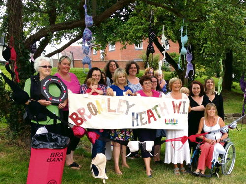 MEMBERS of Bromley Heath WI have been busy bra bombing to help publicise their latest charity drive.