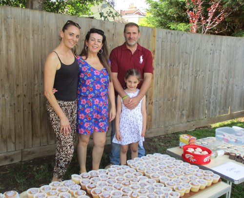 We're so grateful, say Jason and Jo Pittaway, who are pictured  with daughter Jazmine and a friend at the Christ Church Infants fundraiser