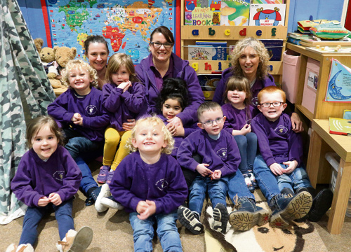 Children and staff at Little Sheep pre-school in Staple Hill have plenty to smile about - their setting has had a glowing report from Ofsted.