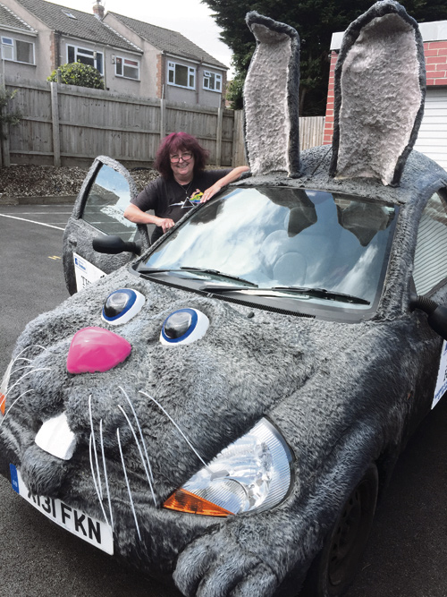 Chewy the bunny car is rescued!