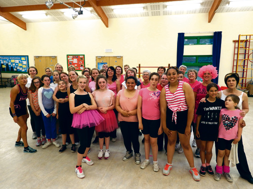Karen Coles, 45, came up with the idea of a Zumba fundraiser for Cancer Research UK