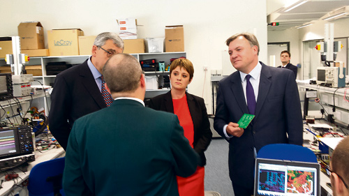Ed Balls and Jo MCarron meet bosses at TDK Lambda
