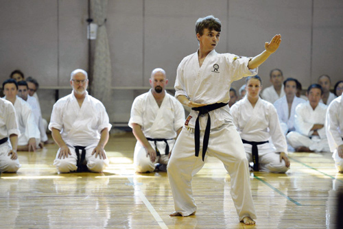 STAPLE Hill-based Joe Rawle has been studying karate since the age of eight. Now, 13 years later he found himself demonstrating some of his skills at a prestigious national karate meeting in Tokyo, Japan.