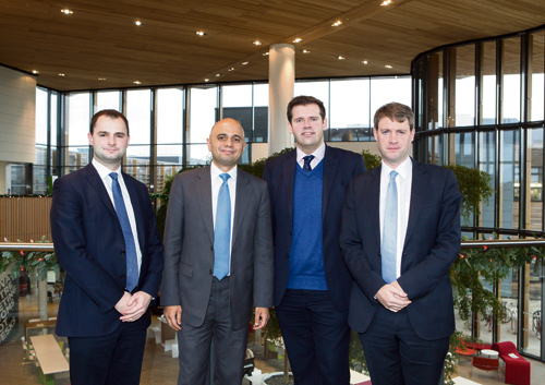 BUSINESS Secretary Sajid Javid heard about the latest plans to create jobs when he visited the Bristol & Bath Science Park at Emersons Green.