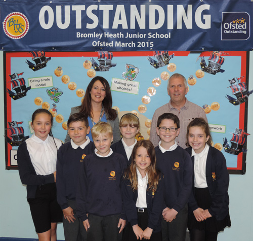 Celebrations for BHJS after 'Outstanding' Ofsted