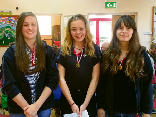 Baden Powell award for three local girls