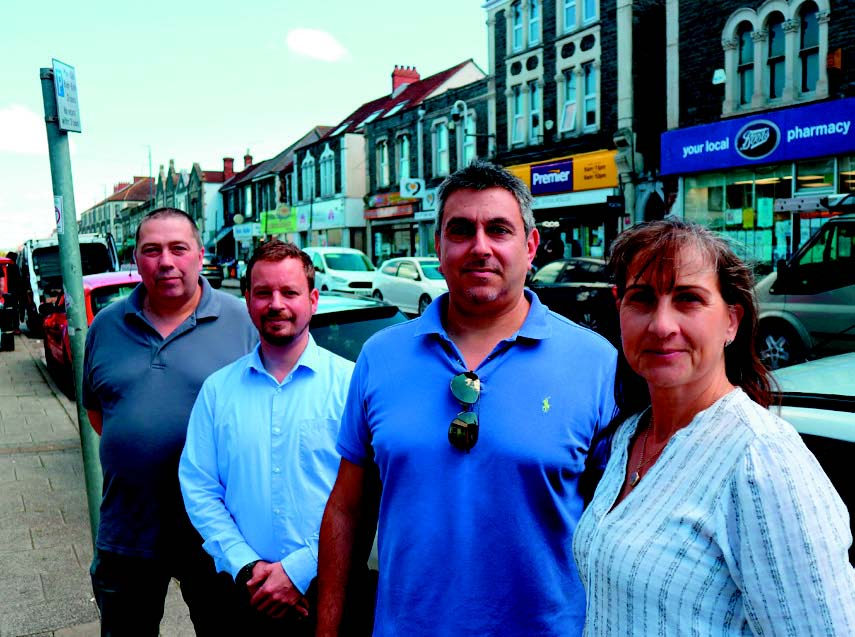 "The traffic scheme has led traders to push harder for support to improve the High Street and Broad Street. The Staple Hill Chamber of Trade and Commerce is being revived. George Georgiou of the Butcher's Hook, centre, is the acting chair of the group, while Mike Sheen of Sheen Studios, second left, is the acting assistant chair, Paul Hooper of Tshirts4You, left, is the acting treasurer and Tina Lewis from The Beauty Spot is the secretary. George said: ""I hope the council learns from their mistakes on the traffic scheme; ""They told us they didn't have anyone to tell – they know we're here now."""