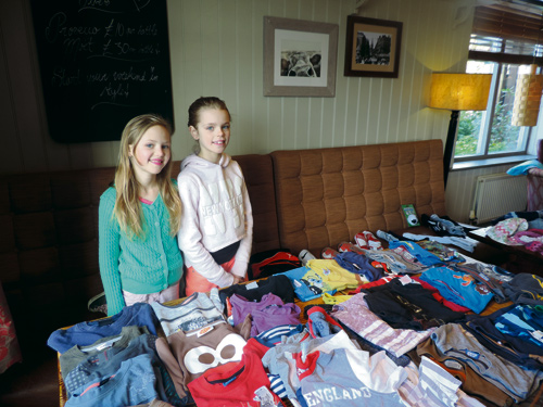 Daisy Brown, 10, and Ella Dowding, 9