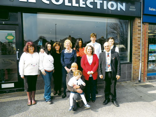 Pictured are representatives from the Littlest Rescue, Style Collection, BUST, CJ Hole, Cleevewood Pharmacy, Webb's Flowers and The Family Centre.