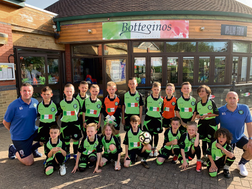 THESE young footballers are raring to go for the new season after securing a new kit sponsor.