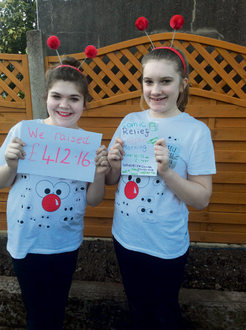 Sophie and Hannah raised £412.16 but further fundraising brought their total to more than £500.