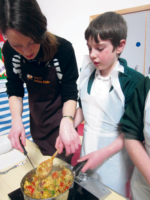 STAFF, parents, carers and children at Staple Hill Primary School took part in the national Let's Get Cooking Cookathon challenge.