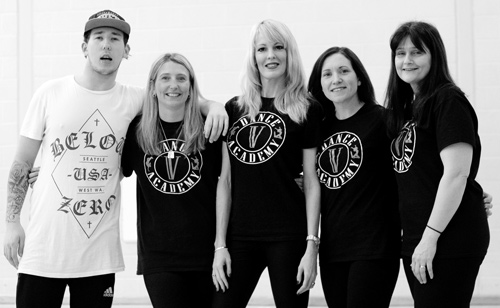 Instructors, left to right,  Aaron Hatherall, Jacqui Wittcomb, Vicky Moody, Deb Williams, Karen Parker.