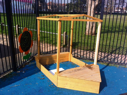 DAD Ian Jones came to the rescue when outdoor play equipment at Page Park Preschool was damaged by vandals.
