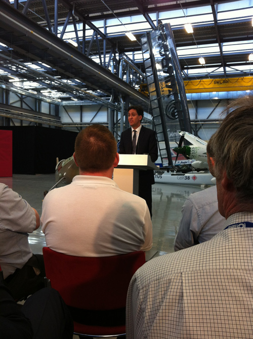 ED MILLIBAND SPEAKING