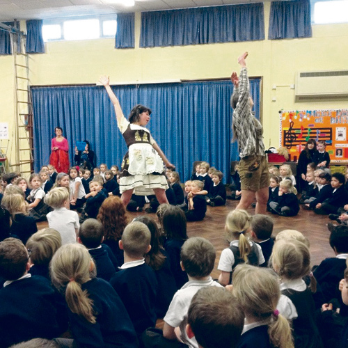 CHILDREN at Bromley Heath Infant School became clog dancers, gingerbread men and angels as they took part in an opera event.