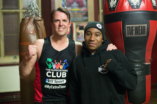 Graeme Swann at Empire Fighting Chance Boxing Gym