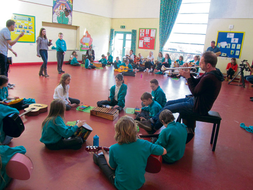 CHILDREN at Emersons Green Primary School had a musical treat when members of the BBC Concert Orchestra dropped by for the day.