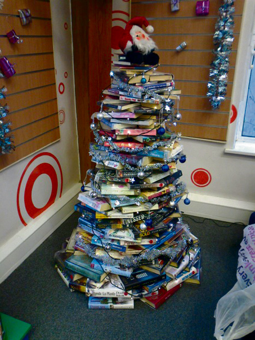 THESE Christmas trees at Emersons Green library have been attracting attention thanks to television's Kirstie Allsopp.