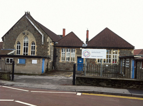 The former Mangotsfield Primary School