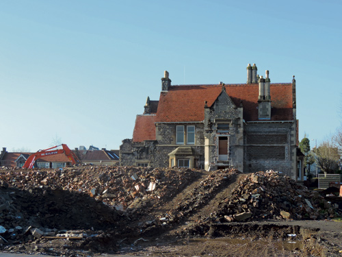 demolition of staple hill police station
