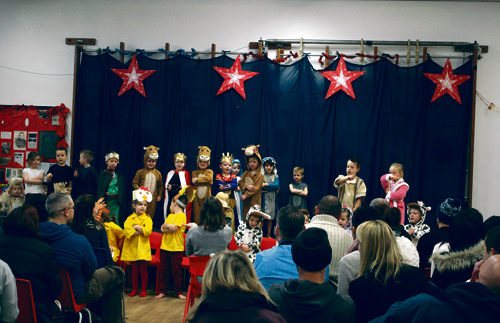 CHRISTMAS shows by the youngest children at The Tynings School raised more than £500 to help a former pupil's disabled daughter.