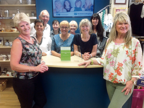 Some of the winning team of workers (from left to right): Sue Cole, part-time assistant manager, volunteers Angela Wakley, Gerald Marshall, Dee Higgs, Pauline Collins, Jenny Read, assistant full-time manager Linda May, volunteer Kath Brock and full-time manager Sue White