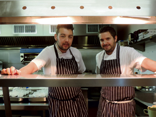Mike-Pattison-left,-and-Richard-Guest-head-chefs-at-The-Kendleshire