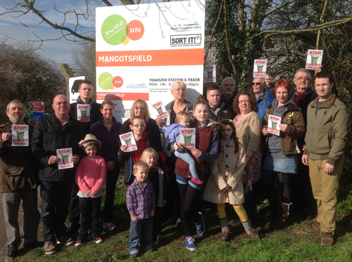 mangotsfield tip protest