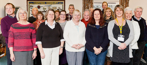 Volunteers and staff of the South Glos CAB team