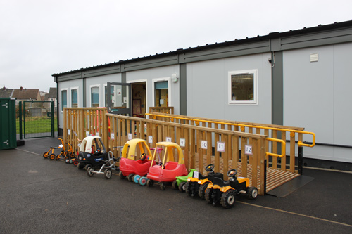 MEERKAT nursery class at Barley Close Community Primary School has a new classroom.
