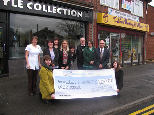 sleeve wood shops cheque presentation