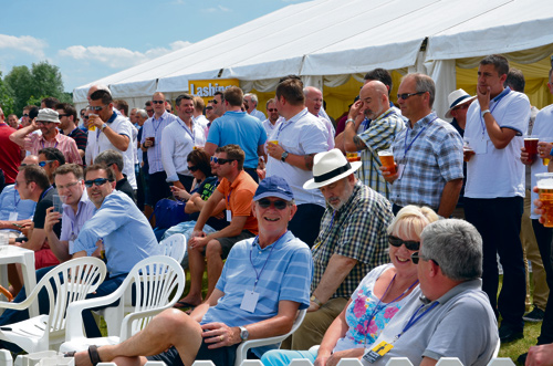 crowds at lashings v mangotsfield cricket picture sophie merlo