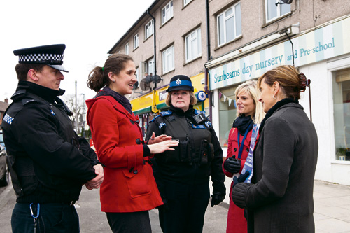 Avon and Somerset police commissioner visits Downend launching four-year plan
