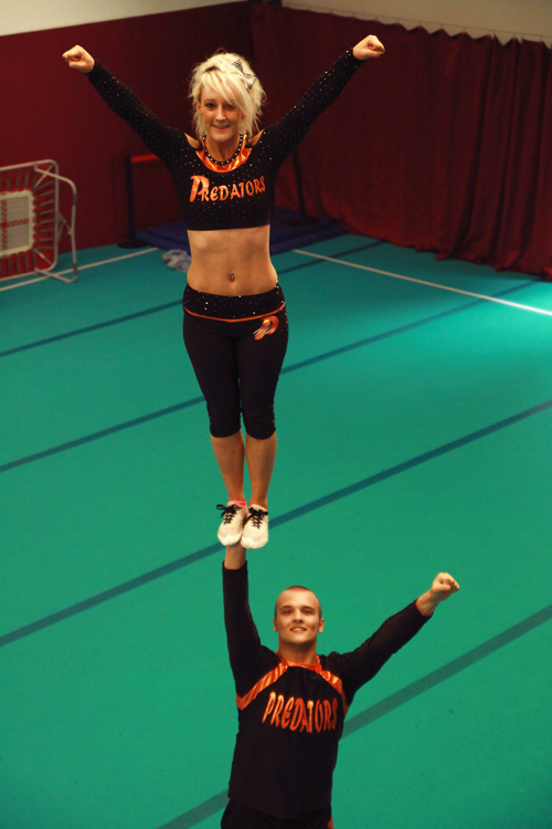 And making waves in the world of cheerleading, is Downend-born Becky Hopton who runs the successful Bristol-based Predators.
