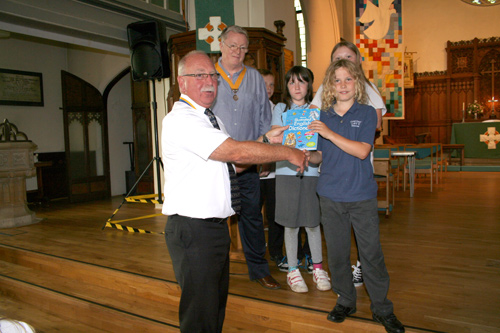 rotary club gift for children downend