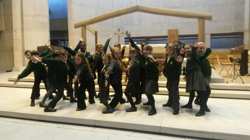 STAPLE Hill Primary School pupils were stars of the show at a Christmas event for South Gloucestershire schools at Clifton Cathedral.