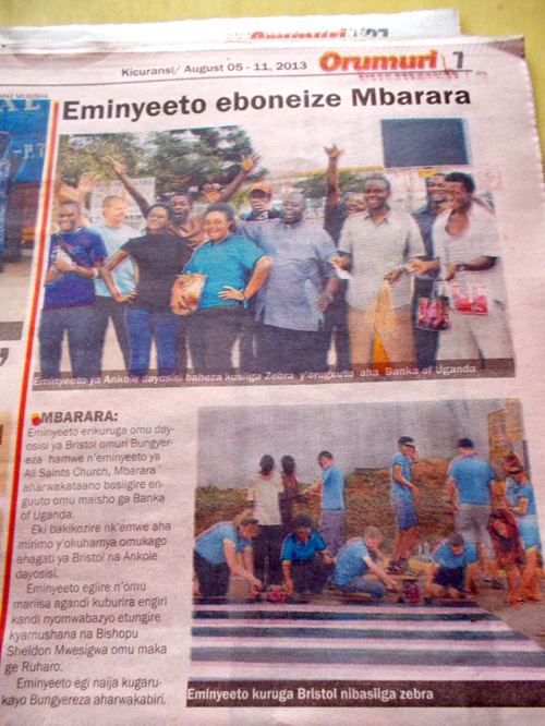Faith group uganda paper clipping